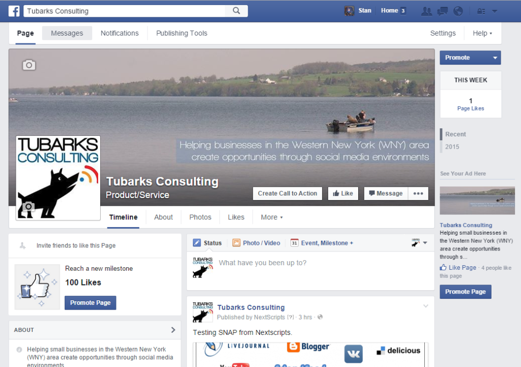 Tubarks Consulting Facebook page