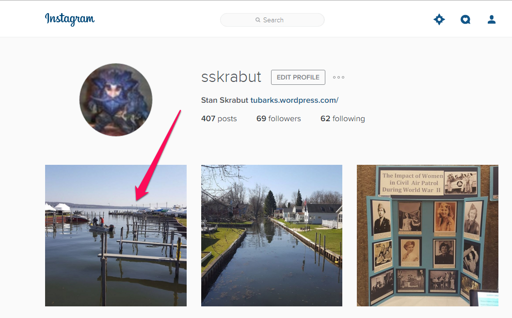 how to get photos from instagram to computer